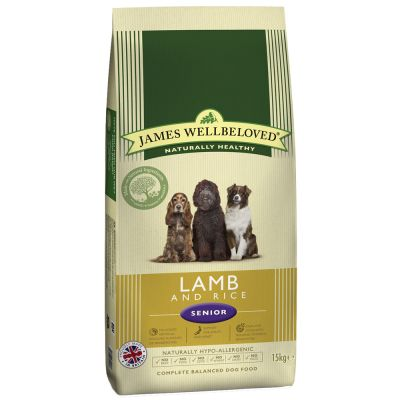 James Wellbeloved Senior/Light agneau, riz pour chien