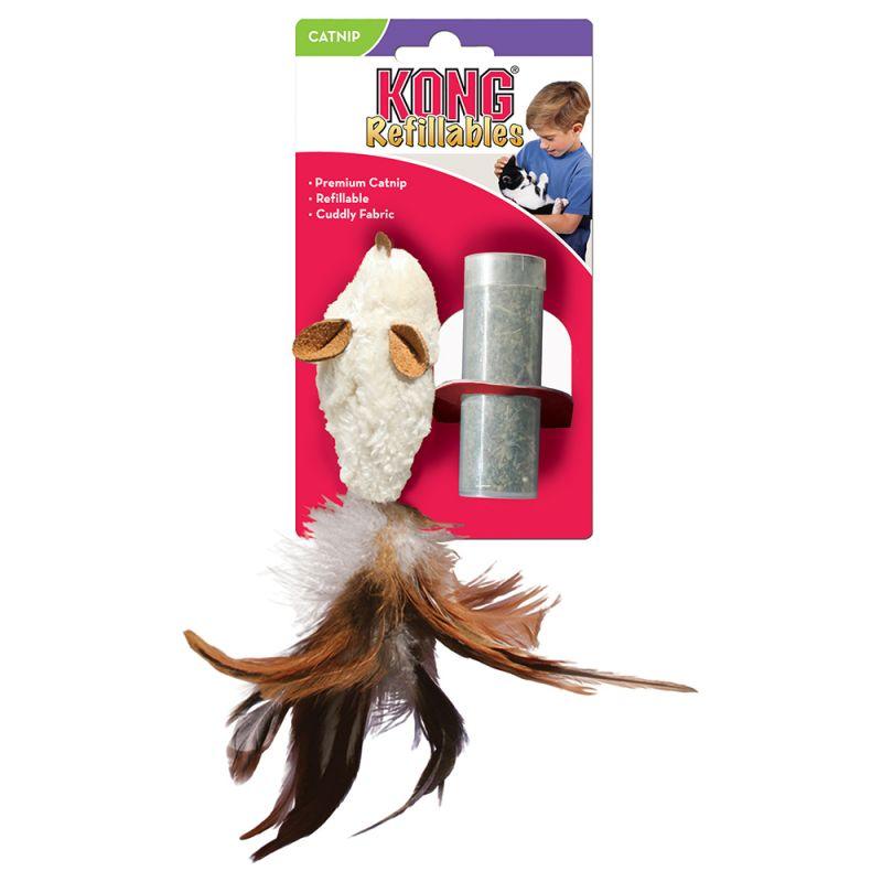 Jouet pour chat Kong Feather Mouse avec menthe à chat
