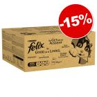 Jumbopack Felix Tendres Effilés / Sensations 240 x 100 g : 15 % de remise !