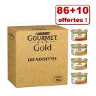 Jumbopack Gourmet Gold pour chat 86 x 85 g + 10 boîtes offertes !
