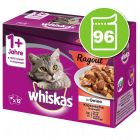 Jumbopack Whiskas 1+ Marmiton 96 x 85 g pour chat