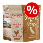 Kanonpris! Prova 100 g Purizon Snacks hundgodis