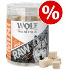 Kanonpris: Wolf of Wilderness - RAW Mini hundgodis