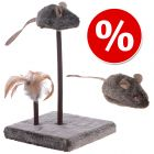 Kattelegetøj-sæt Wild Mouse med lyd og LED-lys