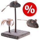 Kattenspeelgoedset Wild Mouse met Sound en LED