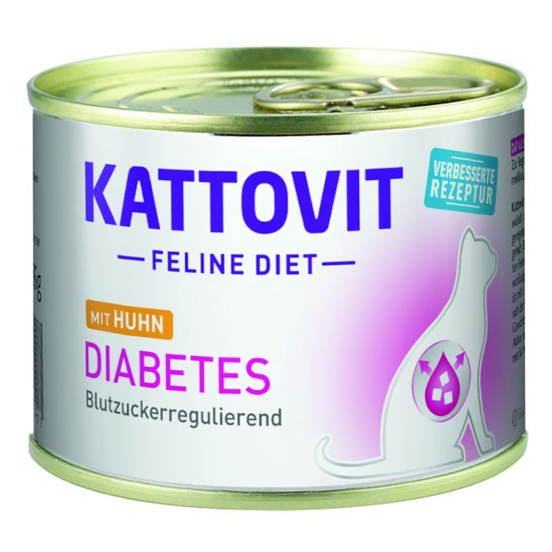 Kattovit Diabetes/Sobrepeso 6/12 x 185 g en latas para gatos