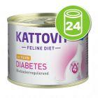 Kattovit Diabète 24 x 185 g pour chat