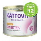 Kattovit Diabète 12 x 185 g pour chat