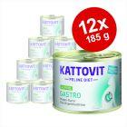 Kattovit Gastro 12 x 185 g en latas para gatos - Pack Ahorro