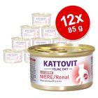 Kattovit Renal 12 x 85 g en latas comida húmeda para gatos