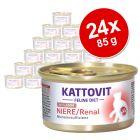 Kattovit Renal 24 x 85 g en latas para gatos - Pack Ahorro