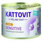 Kattovit Sensitive em latas 6 x 185 g