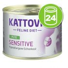 Kattovit Sensitive 24 x 185 g pour chat