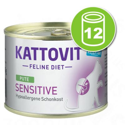 Kattovit Sensitive 12 x 185 g pour chat