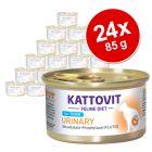 Kattovit Urinary 24 x 85 g comida húmeda para gatos - Pack Ahorro