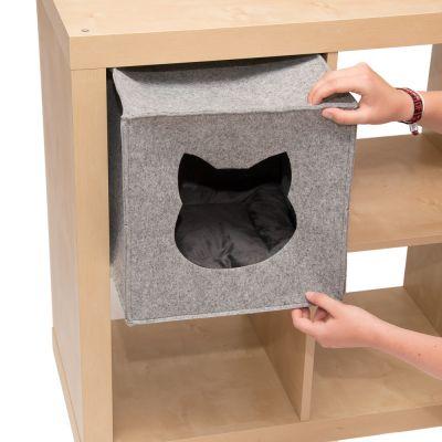 Katzenhöhle für Regale, aus Filz günstig kaufen | zooplus.at