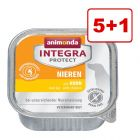 5 + 1 kaupan päälle! 6 x 150 g Animonda Integra Protect