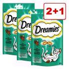 2 + 1 kaupan päälle! 3 x 60 g Dreamies-kissanherkut