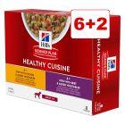 6 + 2 kaupan päälle! 8 x 80 g Hill's Science Plan Canine Adult Healthy Cuisine