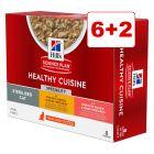 6 + 2 kaupan päälle! 8 x 80 g Hill's Science Plan Healthy Cuisine -kissanruoka