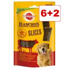 6 + 2 kaupan päälle! 8 x 60 g Pedigree Ranchos Slices -koiranherkut