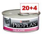 20 + 4 kaupan päälle! 24 x 85 g Purina Pro Plan Cat