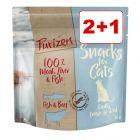 2 + 1 kaupan päälle! 3 x 40 g Purizon-kissanherkut