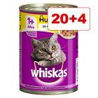 18 + 6 kaupan päälle! 24 x 400 g Whiskas 1+ -kissanruokaa
