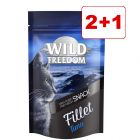2+1 kaupan päälle! 3 x 100 g Wild Freedom Filet -kissanherkut