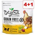 4 + 1 kaupan päälle! 5 x 1,2 kg  Purina Beyond Grain Free