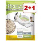 2 + 1 kaupan päälle! 3 x Purina Tidy Cats Breeze -täyttöpakkaukset