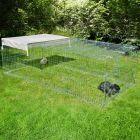 Kerbl metalni kavez za istrčavanje s preprekom protiv bježanja