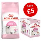 4kg / 10kg Royal Canin Kitten Dry Food + 12 x 85/195g Wet Food - Save £5!*