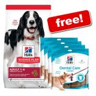 18kg Bags Hill's Science Plan Dry Dog Food + 4 x Hills Dental Chews Free!*