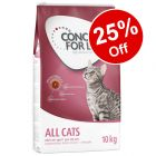 10kg Concept for Life Dry Cat Food - 25% Off!*