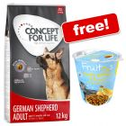 12kg Concept for Life Dry Dog Food + Bosch Fruitees Treats Free!*