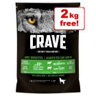 11.5kg Crave Adult Lamb & Beef Dry Dog Food - 9.5kg + 2kg Free!*