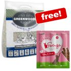 14kg Greenwoods Clumping Litter with Zeolite + Feringa Cat Sticks Free!*