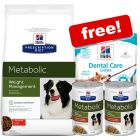 12kg Hill's PD Dry Dog Food + 2 x 354g Stews + 170g Dental Treats Free!*