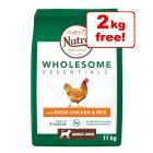 11kg Nutro Dog Wholesome Essentials Chicken & Rice - 9kg + 2kg Extra Free!*