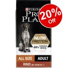 10kg Pro Plan Adult NutriProtein Dry Dog Food - 20% Off!*