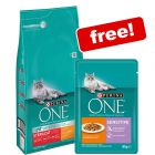 6kg Purina ONE Chicken Dry Cat Food + 12x85g Purina One Wet Food Free!*