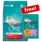 3kg Purina ONE Dry Cat Food + 12 x 85g Cat Pouches Free!*