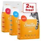 10kg Smilla Adult Mixed Pack Dry Cat Food + 2kg Free!*