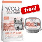 12kg Wolf of Wilderness Adult Dry Dog Food + 6 x 300g Trays Free!*