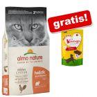 12 kg Almo Nature Holistic + Feringa mesni prigrizki piščanec gratis!