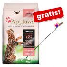 6/7,5 kg Applaws + wędka dla kota z kolorowymi piórkami gratis!