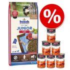 15 kg bosch Junior + Animonda GranCarno Junior, Wołowina i kurczak, 6 x 400 g