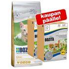 2 kg Bozita Grainfree Kitten + 2 x 190 g Kitten märkäruoka kaupan päälle!