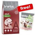 14kg Briantos Dry Dog Food -+ 150g Briantos Salmon Dog Treats Free!*
